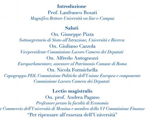 Inaugurazione Della Nuova Sede Ecampus Di Roma